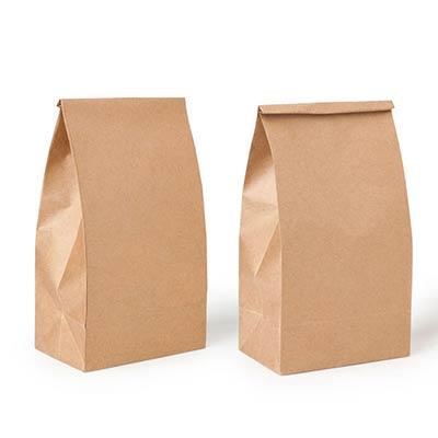 Пакеты на вынос из крафт бумаги